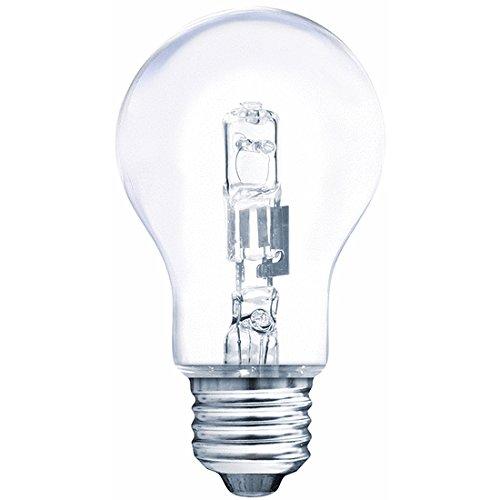 Müller-Licht Halogen-Glaslampe Birnenform 57W 230V E27 915lm 2900K warmweiß dimmbar, 57 W, Schwarz