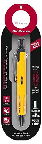 Tombow BC-AP52-B Kugelschreiber AirPress Pen mit Drucklufttechnik Gelb