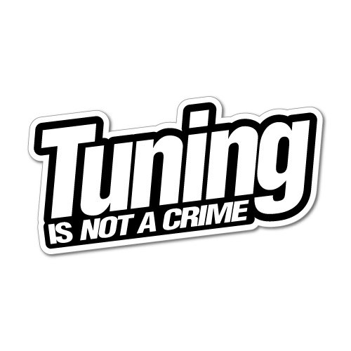 TUNING IS NOT A CRIME JDM Car Sticker Decal
