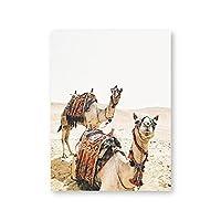 ウォールアート砂漠の動物のラクダのプリントとポスター写真キャンバス絵画写真ボヘミアン家の装飾フレームなし