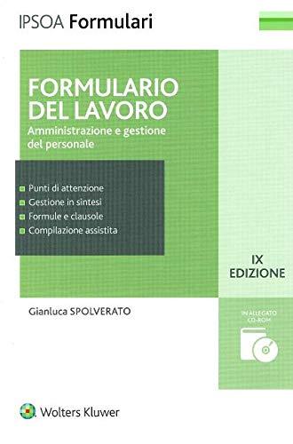 Formulario del lavoro. Amministrazione e gestione del personale (Formulari Ipsoa)