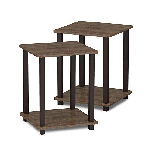 Furinno Simplistic End Table, Walnut/Brown