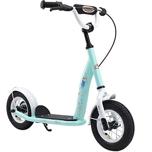 BIKESTAR Roller Kinderroller Tretroller Kickscooter mit Luftreifen für Mädchen ab 4 - 5 Jahre | 10 Zoll Classic Kinder Scooter | Türkis | Risikofrei Testen