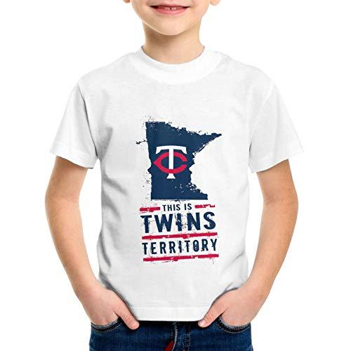 Minnesota Twins Toddler Girl Boys 2t-6t Cotton Short Sleeve T-Shirt Child Tops Brother Shirt Kids Tee 4t White