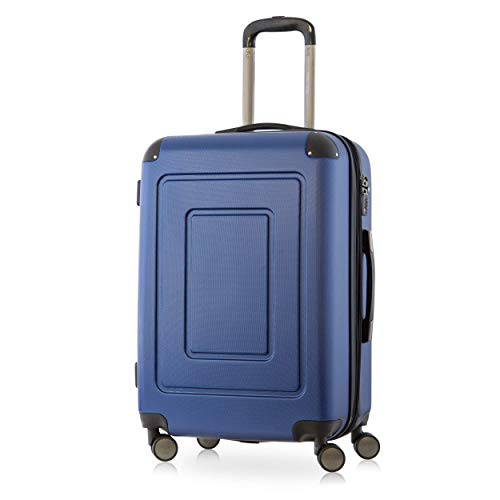 Happy Trolley - Lugano Valigia Trolley rigido ABS TSA 4 ruote, M (66cm), 78 litres, Blu scuro