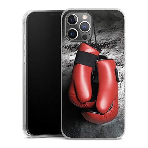 DeinDesign Slim Case extra dünn kompatibel mit Apple iPhone 12 Pro Max Silikon Handyhülle transparent Hülle Boxen Boxhandschuhe Sport
