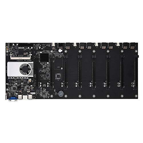 Yuui BTC-37 Mining Machine Motherboard CPU Group 8 Video Card Slots DDR3 Memory Integrated VGA Interface Low Power Consume