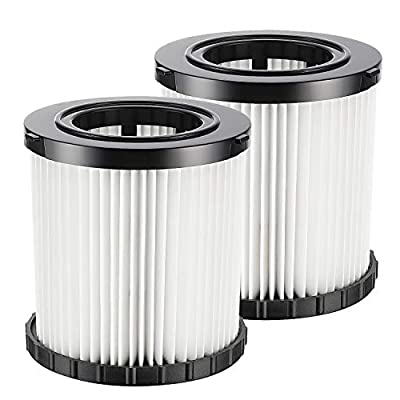 isinlive 2 Pack DCV5801H Hepa Replacement Filter Compatible for DeWalt DCV580 & DCV581H Wet Dry Vacuum