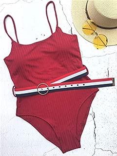 BEESCLOVER New Swimsuit Women Swimwear Belt Slim One Piece Swimsuit Push Up Backless Bathing Suit Wear Female Beachwear