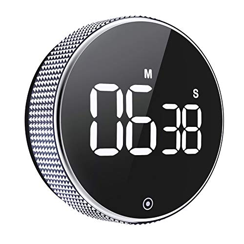 Kitchen Timer, OVEKI Magnetic Countdown LED Digital Timer,twist One Button Operation for Teacher kids and Elderly,for classroom home work fitness