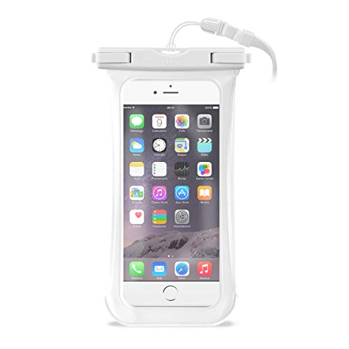 PURO Custodia Waterproof Bianco - Cover Impermeabile up to 5.7'
