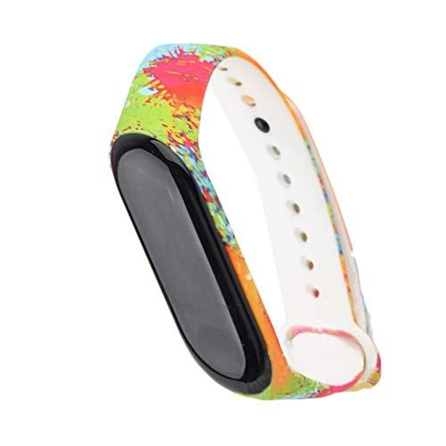 UKCOCO Ersatz schützende Ersatz Silikon Wriststrap Wrist Strap Wristlet für Miband 3 Xiaomi 3 Smart Bracelet