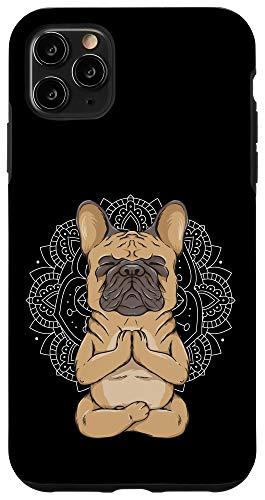 iPhone 11 Pro Max Frenchie Meditation French Bulldog Spirituality Cute Animal Case