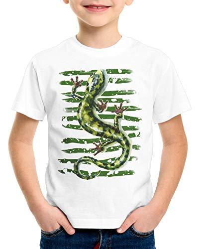 style3 Salamander T-Shirt für Kinder reptil echse mittelmeer, Größe:164