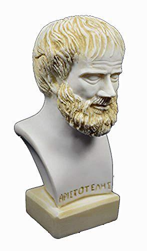 Aristoteles-Skulptur Büste antikgriechischer Philosoph Patina Statue