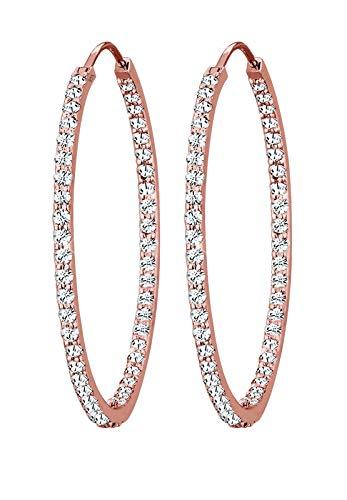 Elli PREMIUM Ohrringe Damen PREMIUM Ohrringe Creolen mit Swarovski Kristallen in 925 Sterling Silber
