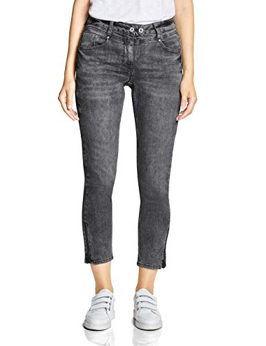 CECIL Damen 372405 Charlize Fit Slim Jeans, Grau (Grey Used wash 10189), W32/L28 (Herstellergröße:32)