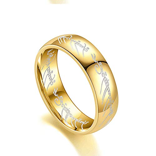 Stainless Steel Titanium Steel Magic Ring Ring King Ring Couple Ring Jewelry Size 5
