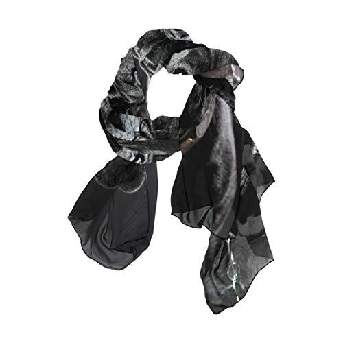 Print Tier Französisch Bulldog Cup Head Wraps Square Taschentuch Schal Schal Lightweight 90x180 CM für Frauen Mädchen Ladies Favor