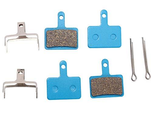 2 Paia di pastiglie freno per bicicletta per Shimano M355 M375 M395 M415 M445 M446 M447 M465 M475 M485 M486 M495 M505 M515 M525 C501 C601 (semi metallo, metallo polimerico, metallo sinterizzato)