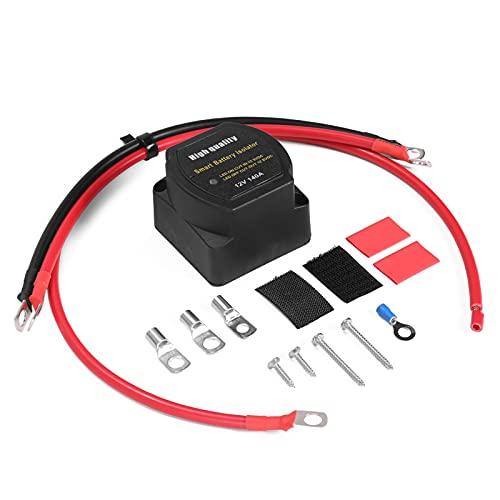 Staright Aislador inteligente de batería con relé sensible al voltaje de 12 V 140 A, recarga de 2 baterías para automóviles, vehículos todoterreno, barcos