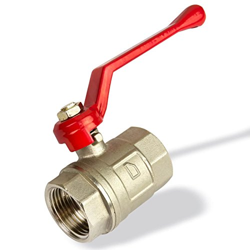 Stabilo-Sanitaer Kugelhahn 1 1/4 Zoll DN32 für Wasser Messing Kugelventil Absperrventil Heizung Absperrhahn