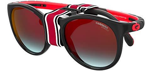 Carrera Gafas de sol HYPERFIT 18 / S U4Q / YB Gafas de sol unisex color Negro rojo tamaño de lente 54 mm