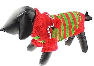 Adorable Festive Dog Pull de Noël Pom Pom