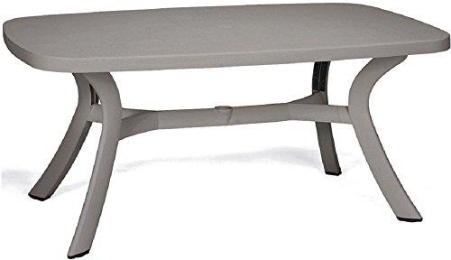 LI.G. B754 Tavolo Ovale per Esterno in Resina Tortora ARREDO Giardino Bar PIZZERIE GAZ