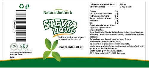 Pure Stevia Extract 95% glicosidi steviolici 50ml