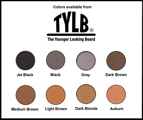 The Younger Looking Beard (Dark Brown) Beard and Mustache Darkener. Non Allergenic. 1 Minute Brush On