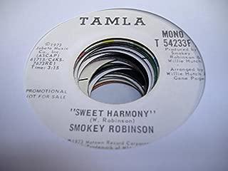 SMOKEY ROBINSON 45 RPM Sweet Harmony / SAME