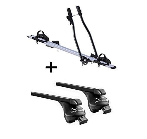 VDP Fahrradträger SAGITTAR + Relingträger Quick Stahl L kompatibel mit Kia Ceed II Kombi ab 2012