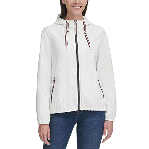 Tommy Hilfiger Ladies' Windbreaker (White, X-Large)