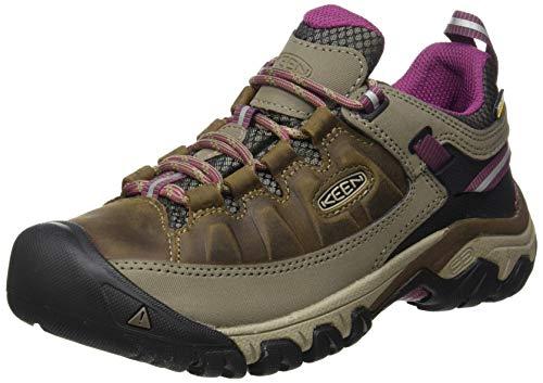 KEEN Women's Targhee 3 Waterproof Hiking Shoe, Weiss/Boysenberry, 9 M (Medium) US