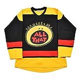 Custom All That Kel Men's Movie Ice Hockey Jersey (Black, XL)