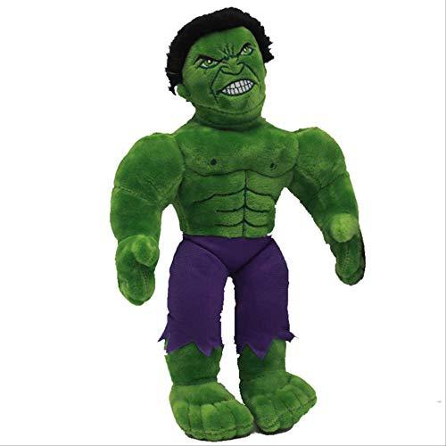 DOUFUZZ Marvel The Avengers Spiderman Iron Man Hulk Batman Plüsch Puppe Spielzeug weiche gefüllte Spielzeug Kinder Kinder Geschenke 30cm Hulk