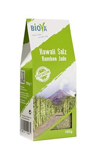 Biova Gourmetsalz Hawaii Salz Bamboo Jade Grün 1-2mm 150g