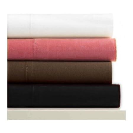 150 x 200cm Chocolat Linens Limited Drap Plat 2 Personnes en Microfibre