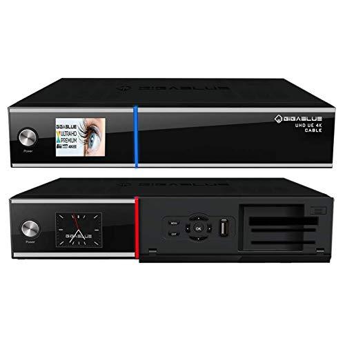 GigaBlue UHD UE 4K Cable 1x DVB-C/C2 FBC & Dual DVB-C/T2 H.265 E2 Linux Receiver