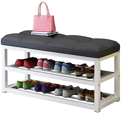 Wddwarmhome Zapatero organizador de zapatos, zapatero, estante de almacenamiento de zapatos (tamaño: 80 x 30 x 50 cm)