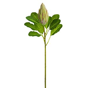 28.5″ Protea Bud Silk Flower Stem -Green/Pink (Pack of 12)