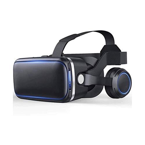 HDCDKKOU Auriculares VR con Auriculares Vidrios de Realidad Virtual VR Gafas de Gafas para películas en 3D Videojuegos Compatibles con 4,5-6.0 Pulgadas iOS Android Smartphones