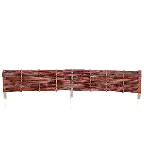 Willow Wicker Lawn Edging Fence (Large (120cm))
