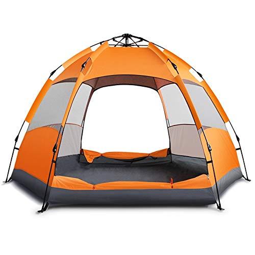 Zmsdt Tente Automatique Tente de Camping Extérieur Tente pour 3-4 Personnes Orange