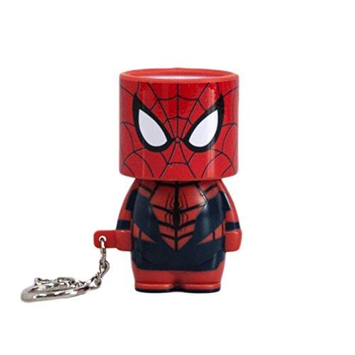 Marvel Oficial Avengers Spider-Man con Clip Look-Alite LED Llavero Llavero