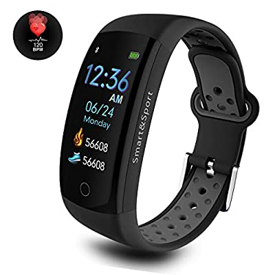 Dosmix Fitness Tracker HR, Waterproof Activity Smart Watch