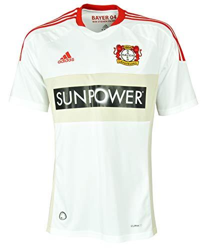 Adidas Bayer 04 Auswärts Jersey O92229 Herren Fußballtrikot / Trikot / Fantrikot Weiß L