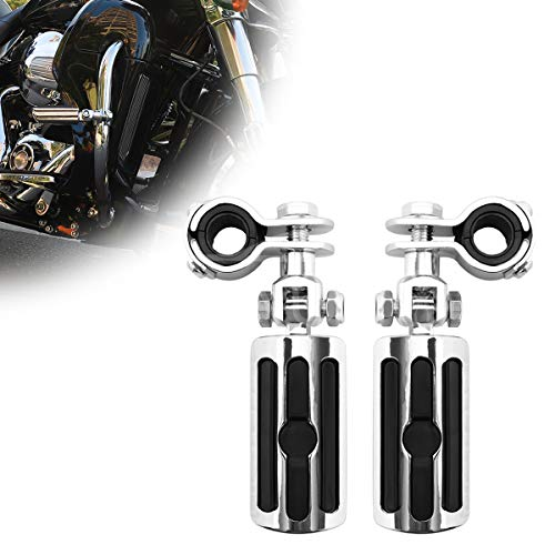 GDAUTO Motorcycle Footpegs Foot Rest Highway Pegs Motorcycle Foot pegs(Black) for Harley Honda Yamaha Road King Street Glide Suzuki Engine Guard Kawasaki