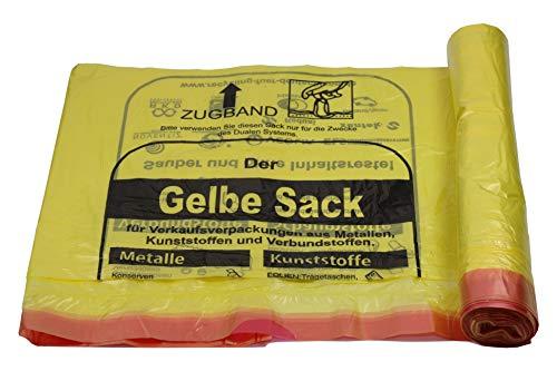 5 bis 500 Rollen Gelber Sack, Gelbe Säcke 90 Liter, 15µ (20 Rollen)